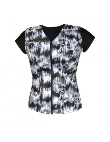 Cap Sleeve Top, Contrast Front - Black and White