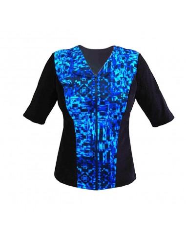 Slimline V Neck Original, Elbow Sleeve - Midnight Blue