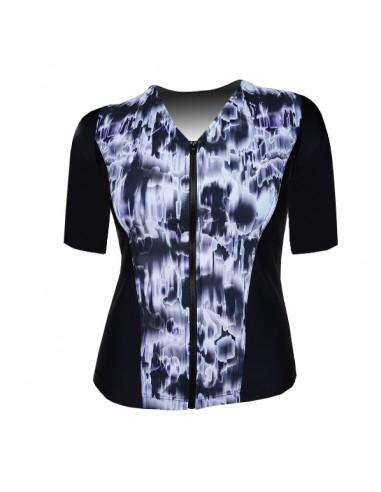 Slimline V Neck Original, Elbow Sleeve - Black and White Watermark