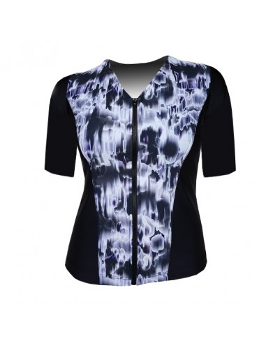 XXL Elbow Sleeve Top, Panorama - Black and White
