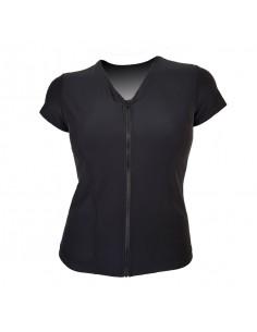 Slimline V Neck Original, Cap Sleeve - Plain Black