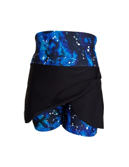 Tankini Skort with Splash! print leg - all in one shorts and skirt