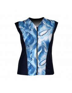 Slimline V Neck Original, sleeveless - Island Dreaming print