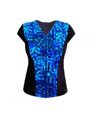 Slimline V Neck Original, Cap Sleeve - Midnight Blue